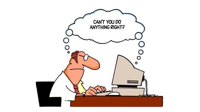 Cartoon Man Hating Recruitment CRM